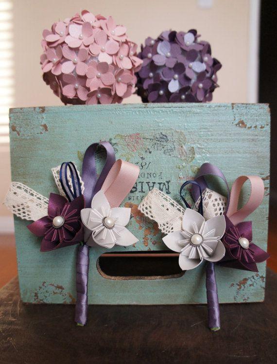 Paper Flower Boutonniere - Origami Flowers Kusudama