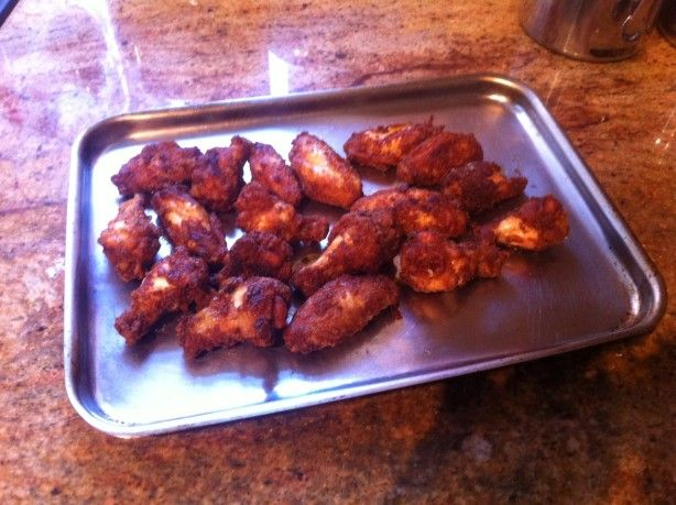 K-Jons Dry Rub Buffalo Wings Recipe - Food.com (Unfortunately, not the one I used, but I can't find that one. I think this one is close. spray lightly with oil, then shake in zip bag, then air fry) (OH< and store excess in the freezer in a zip lock bag for the next use !)