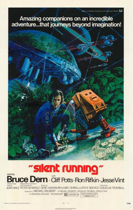 "Silent Running (1972) As this science fiction classic opens, botanist Freeman Lowell (Bruce Dern) has spent eight years aboard the space freighter ""Valley Forge"" preserving the only botanical specimen"