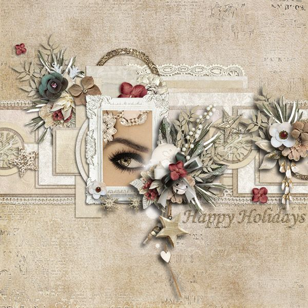 Credits: Shabby Holidays - Page Kit : Laithas Designs  http://shop.scrapbookgraphics.com/Shabby-Holidays-Page-Kit.html Template by M&M Designs