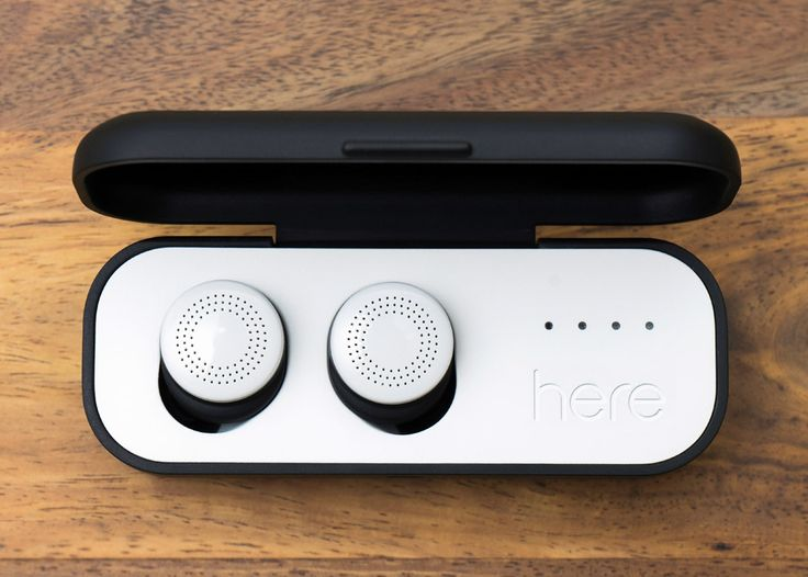 These wireless earbuds connect with a smartphone app to augment the user's real-world audio experience.