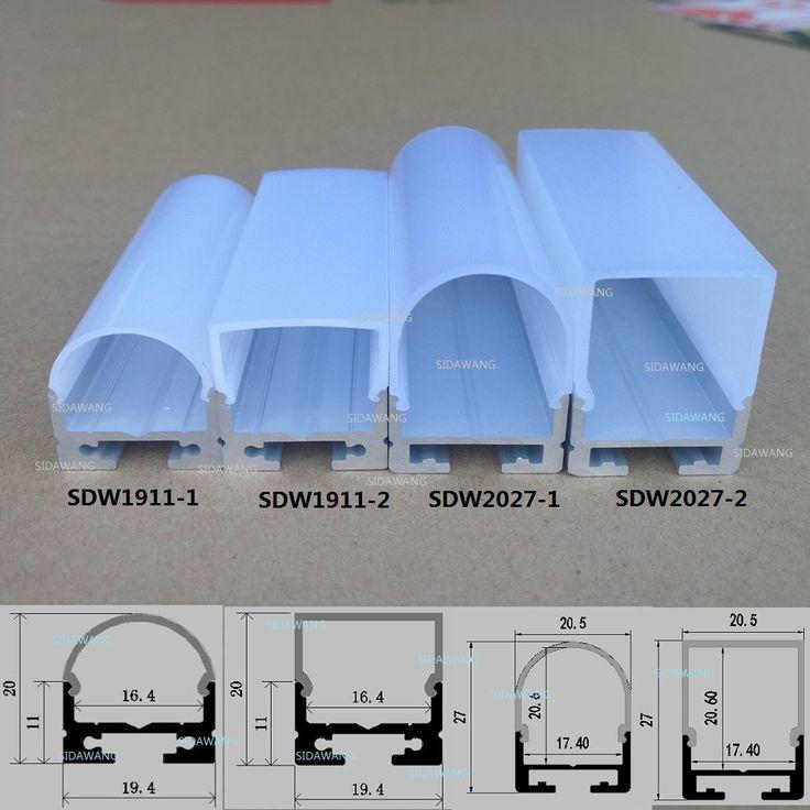 5 Packs/10 paquetes mucho, 2 m por pieza, perfil de aluminio led para tiras de led de luz, cubierta de la luz de tira De Canal de Aluminio de Techo Del led en Luces de Barra de LED de Luces e iluminación en AliExpress.com | Alibaba Group