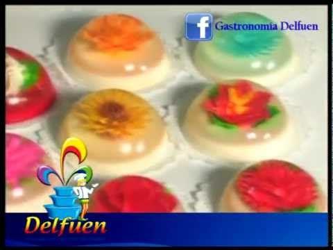 Cómo hacer flores en gelatina. Gelatina artística - YouTube