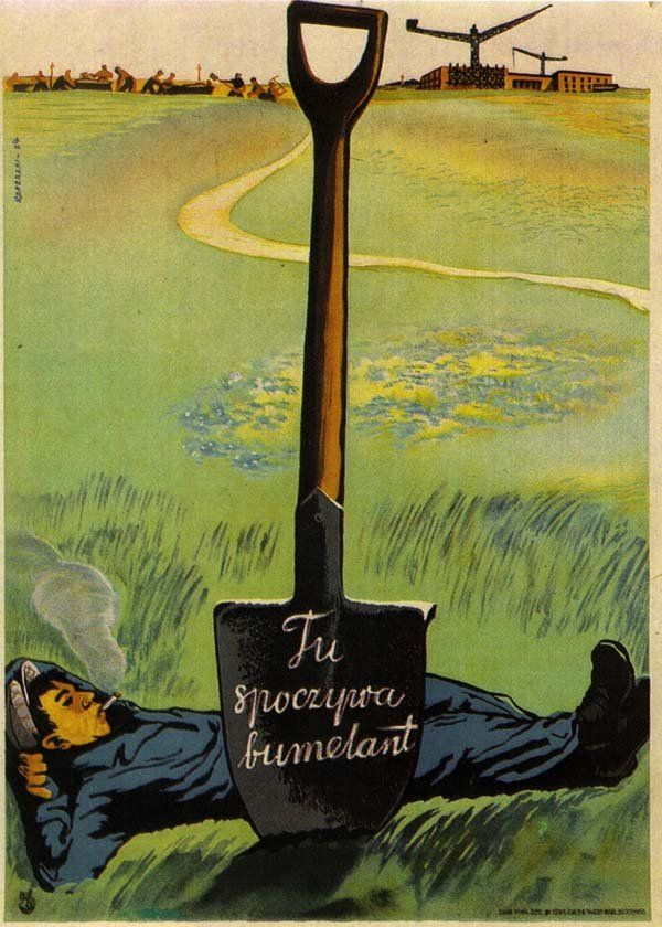 Propagandowe plakaty z PRL-u