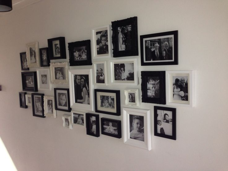 Black and white photo frame collage