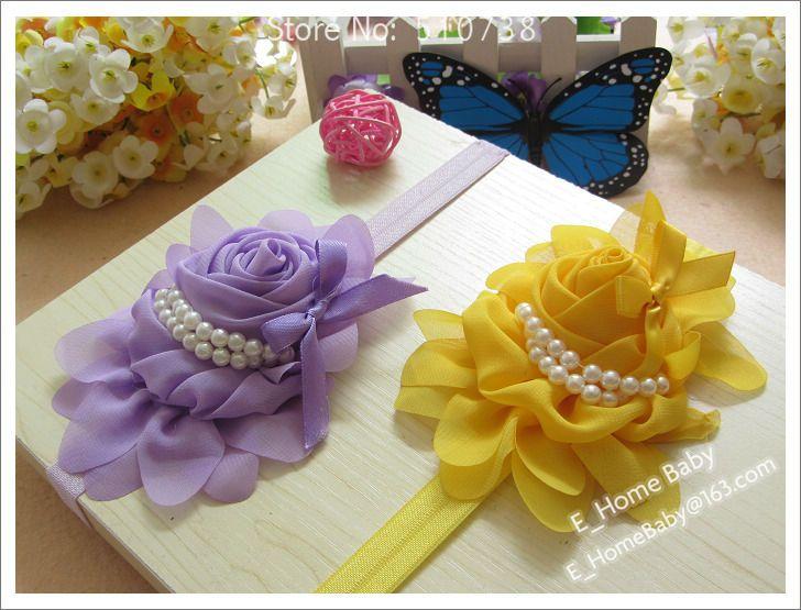 piezas de beb nia volantes de gasa rosa flor pelo bowknot cinta beb
