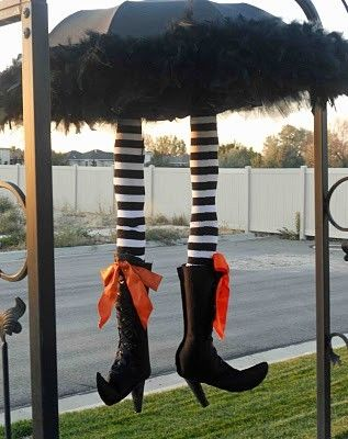 halloween decoration crafts craft ideas halloween door decorating on umrella witch craft by trecia - Halloween Witch Decoration