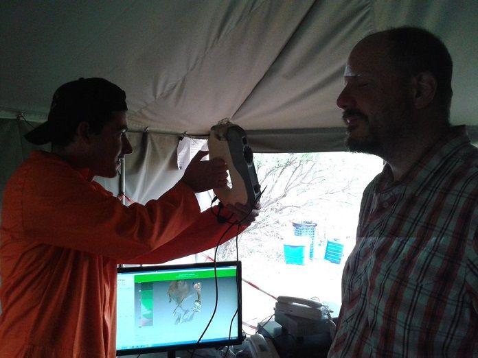 skaner 3D EVA odkrycie archeologiczne