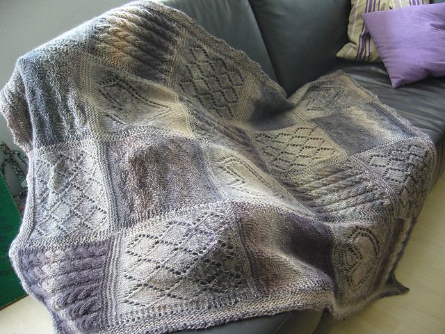 The 52 best images about Knit Patterns: Blankets on ...