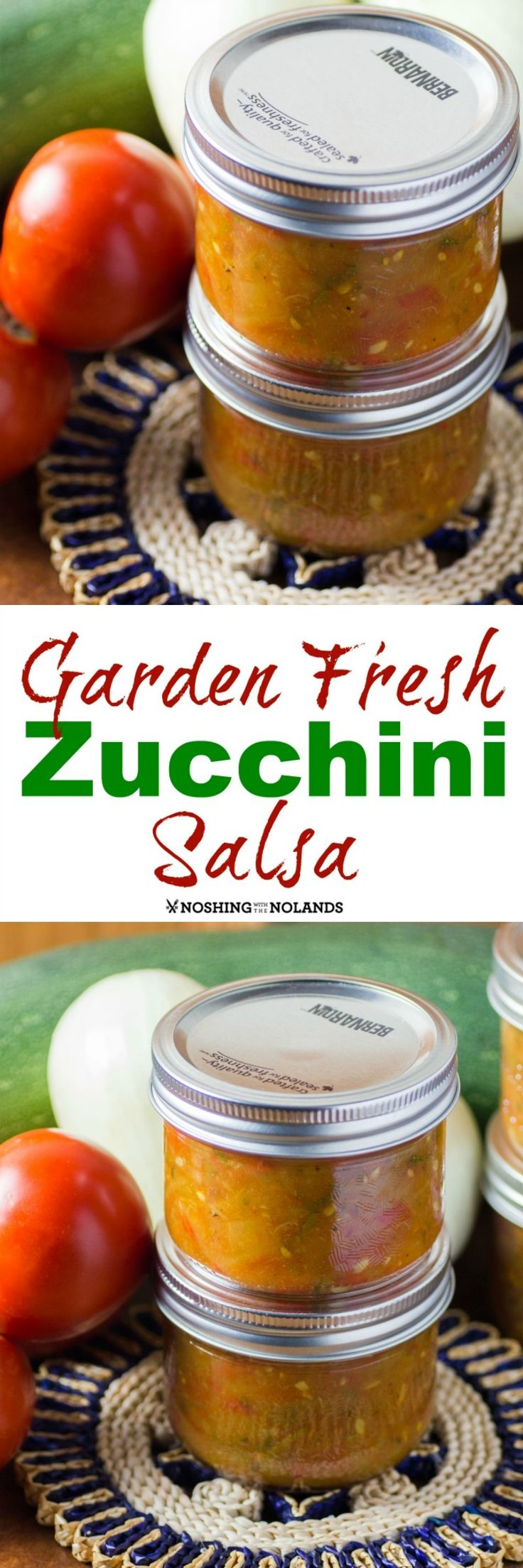 Garden Fresh Zucchini Salsa by Noshing With The Nolands is an excellent way to use up those extra zucchini from your garden or the farmers market!