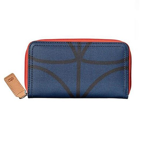 Orla Kiely ETC Wallet Giant Linear Stem twilight blue