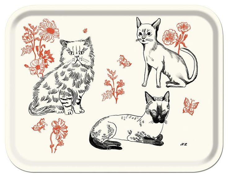 CATS TRAY CATS TRAY BY NATHALIE LETE