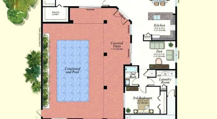 Plano de casa con piscina interior planosmmmmmm for Planos de casa con piscina interior