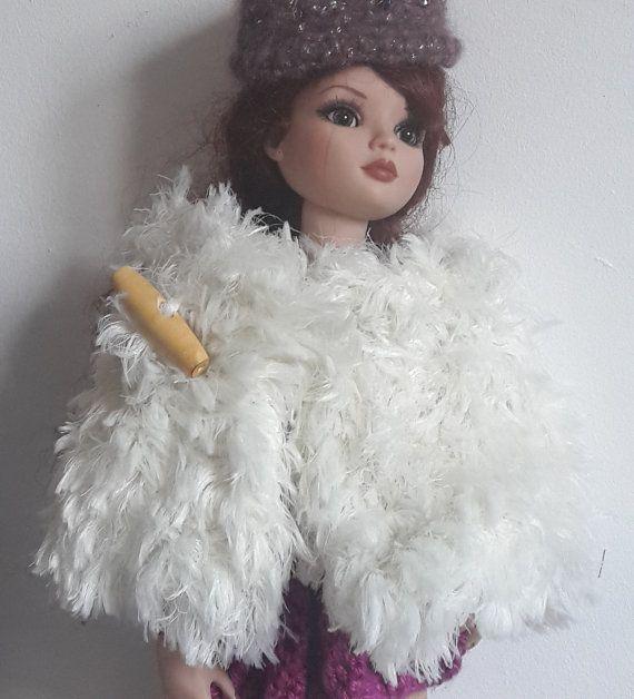 Ellowyne Wilde étole blanche laine poilue pour par 3huttesetunecase