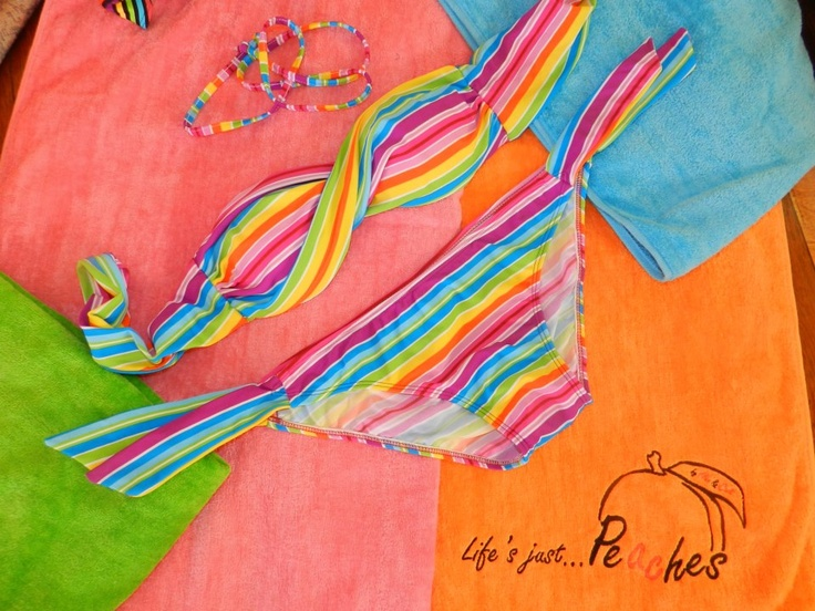 Rainbow Peaches Bikini  Bikini, Summer, Beach, Fashion, Girls