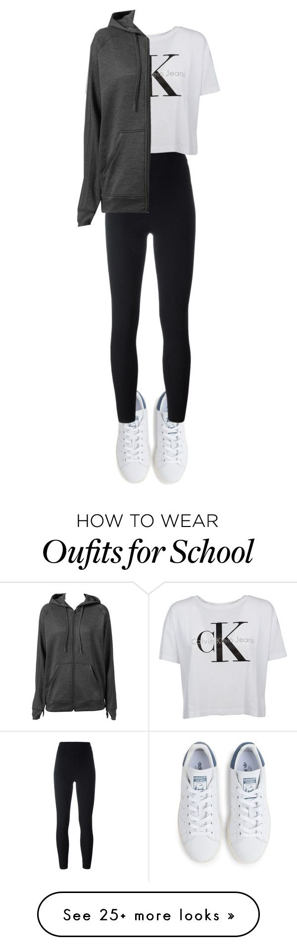 """Lazy rainy school day"" by lukeisalibero on Polyvore featuring adidas, adidas Originals and Calvin Klein"