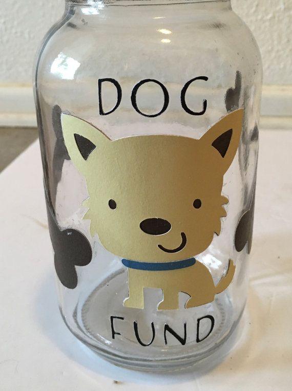 Piggy bank dog bank mason jar bank dog fund jar by for Mason jar piggy bank
