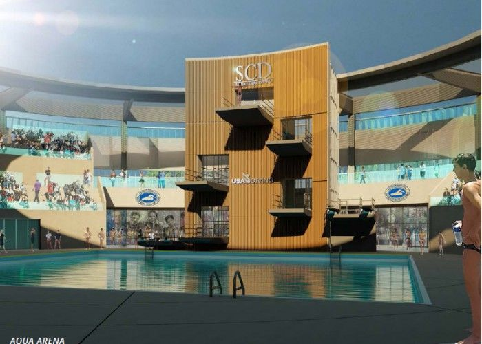 Artist Rendition Of Proposed Ishof Santa Clara Swim Center Santa Clara Swimming World Swimming
