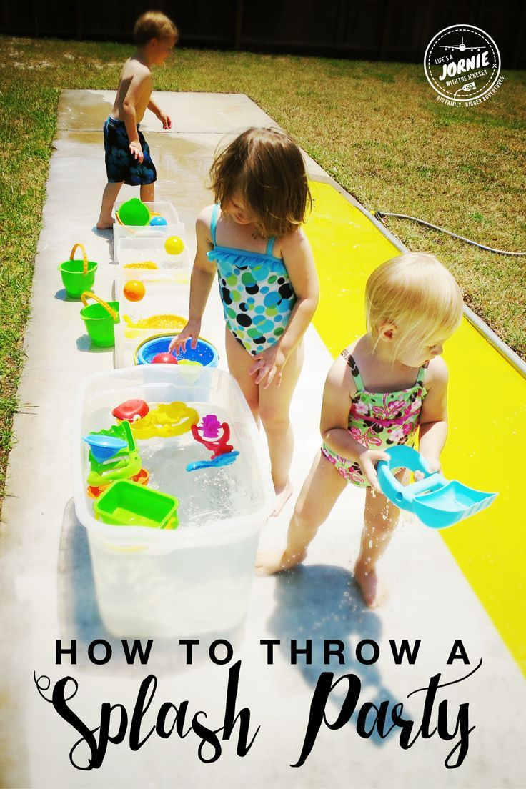 Water and ice activities summer camp at home with 12 weeks of easy - How To Throw A Splash Party