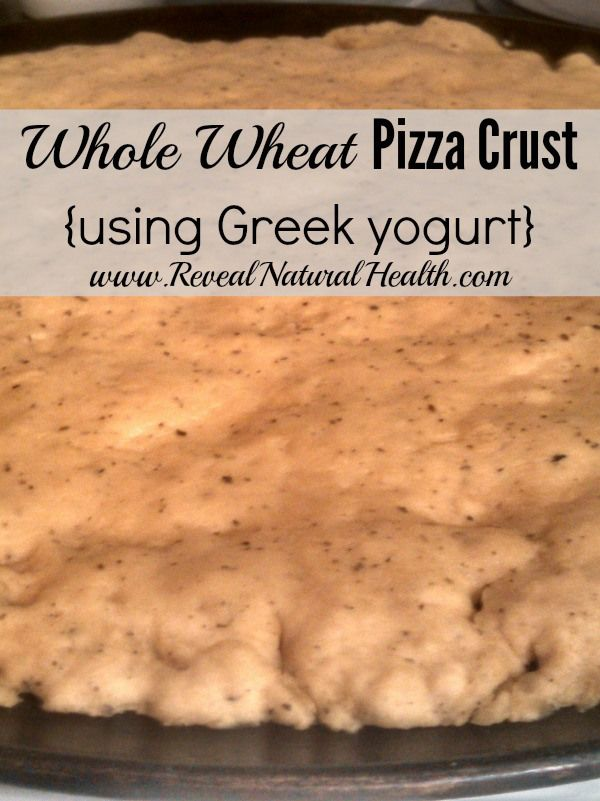 This pizza crust rises beautifully (without yeast) and makes a great, healthy base to your homemade pizzas.