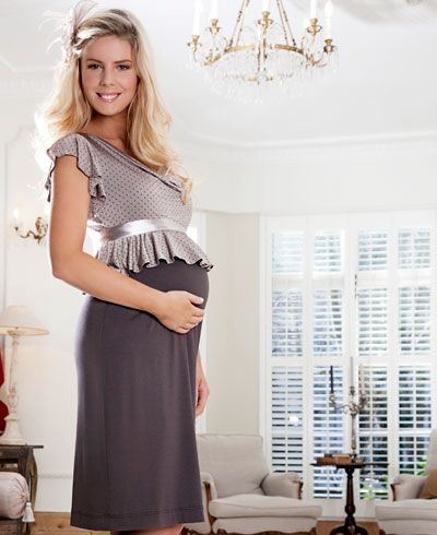 Flounce Tea Maternity Dress - Maternity Wedding Dresses, Evening Wear and Party Clothes by Tiffany Rose
