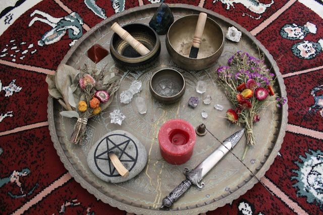 Altar. All things representing nature and forces of nature.