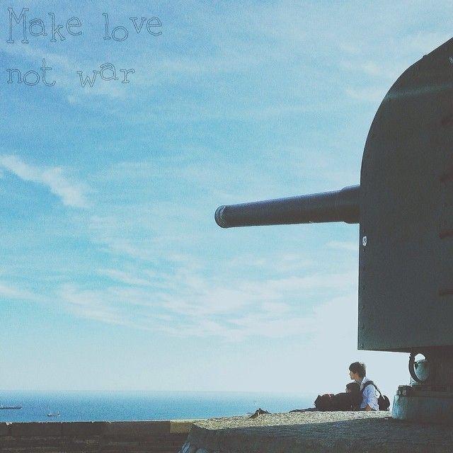 Make love not war | Castell de Montjuic, #barcelona