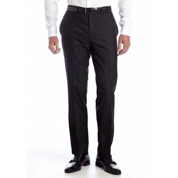 Tallia Orange Black Slim Fit Black Tonal Suit Separate Pants ($30) ❤ liked on Polyvore featuring men's fashion, men's clothing, men's pants, men's dress pants, black, mens slim pants, mens slim fit dress pants, mens slim dress pants and mens slim fit pants