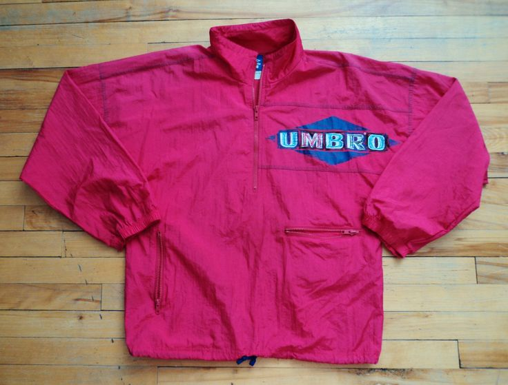 Vintage Ladies Neon Pink Medium Umbro Jacket VTG by StreetwearAndVintage on Etsy