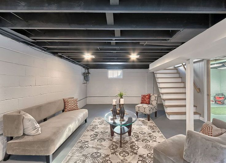Painting Concrete Basement Walls Ideas Interior Best Decorating Inspiration