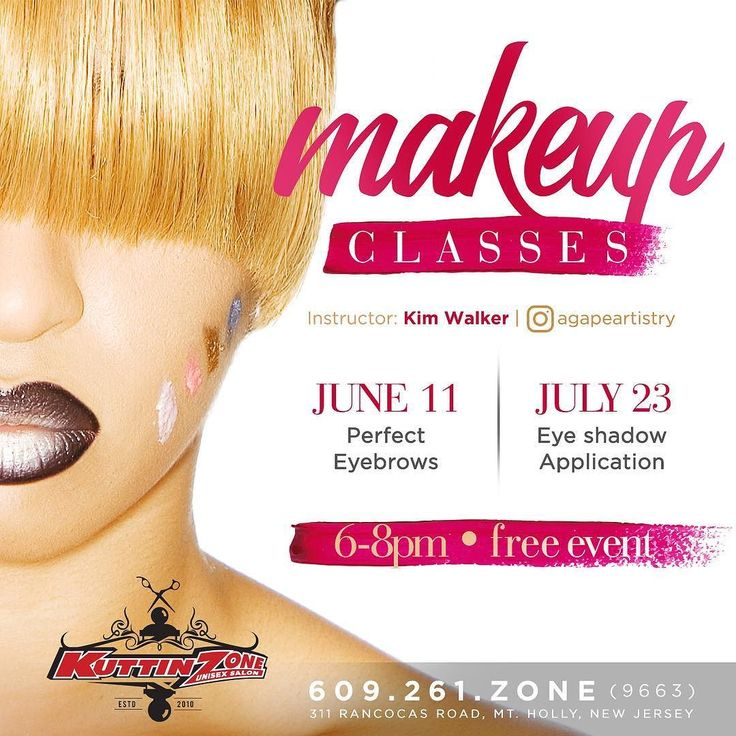 Today: Free Makeup classes w/ @agapeartistry at @kuttinzone_mtholly  Free Makeup class June 11th on Eyebrows at the Kuttin Zone @kuttinzone_mtholly from 6-8 pm by Makeup Artist Kim Walker... All are welcome to come learn how to shape you're brows to enhance you're natural beauty... Tag a friend....Flyer by @finaldraft  #free #makeupclasses #learningeveryday #learning #makeup #mua #kuttinzone #freemakeupclass #2017 #eyebrows #motivescosmetics #finaldraftdesign #design #designer #graphicdesign…