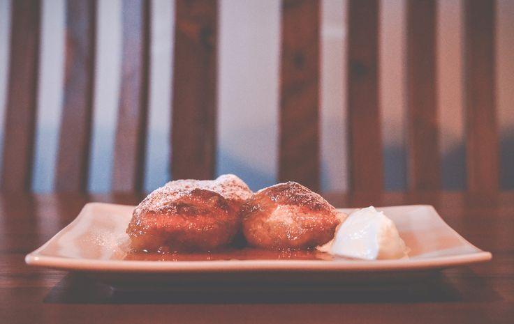 Butterscotch coconut dumplings