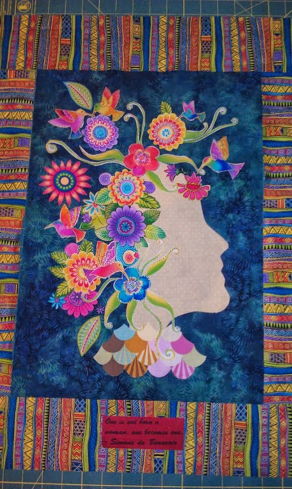 Em Celebrates!: Have you ever created quilts with a glue stick?.....Celebrating Freddy Moran's collage technic!