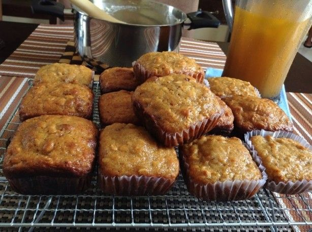 Another great recipe from Michael Smith.  These muffins are so moist and delicious, as well as being good for you, too!