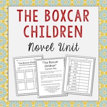 The Boxcar Children Novel Unit includes vocabulary terms, poetry, author biography research, themes, character traits, and chapter summary activities. A bookmark is included with plenty of room for creativity and note taking.