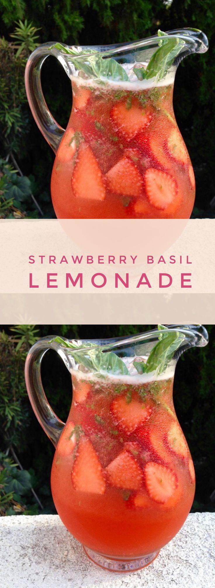 Strawberry Basil Lemonade   CiaoFlorentina.com @CiaoFlorentina