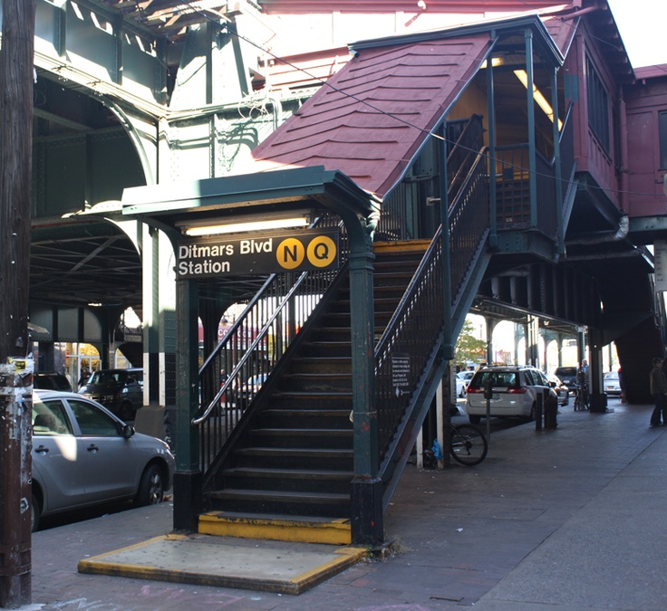 NYC, Queens, Astoria, Ditmars Blvd Station.  I know I'm @ my home away from home when I hit this station!