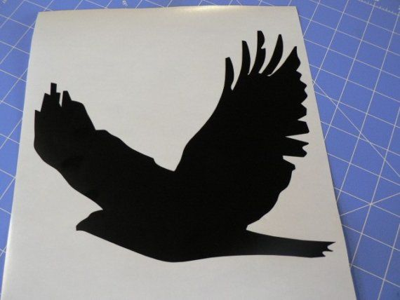 Red Tailed Hawk silhouette 9 inches x 8 inches | Hawks ...
