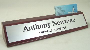 We have a huge variety of nameplates and namebars