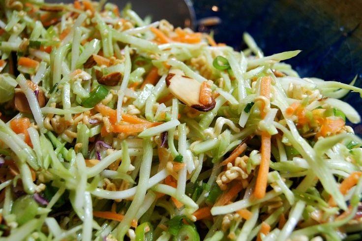 Crunchy broccoli slaw - with ramen noodles