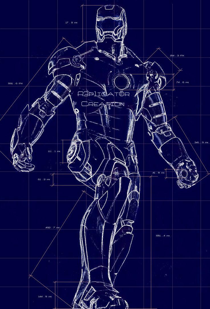 Awesome Iron Man blueprint | Marvel's Iron Man | Pinterest ...