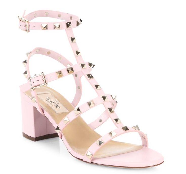 Valentino Garavani Rockstud Block-Heel Sandals $1045