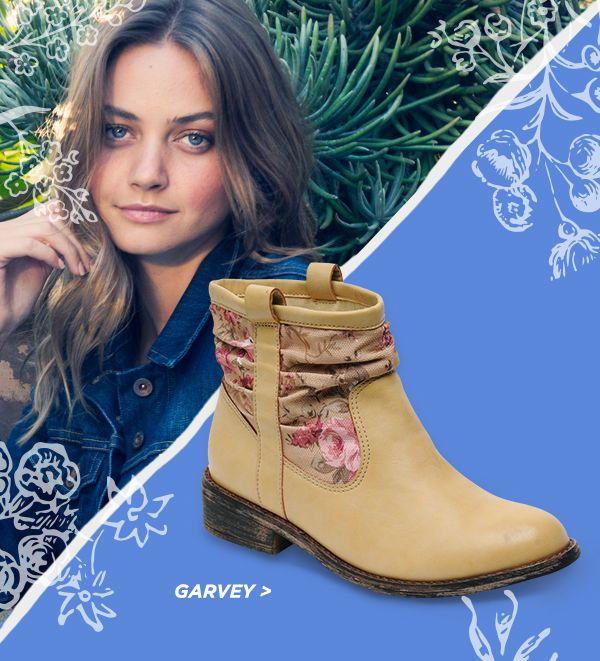 Rocket Dog Garvey Stampede Safari boots. #spring #shoes