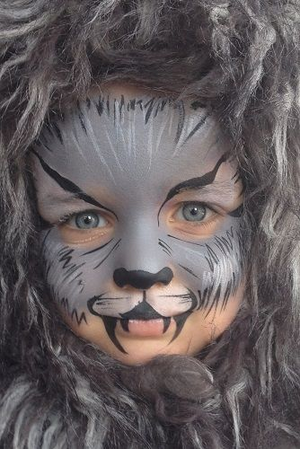 wolf face paint - Google zoeken                                                                                                                                                                                 More
