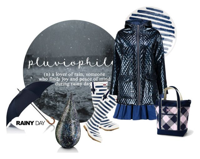 """Splish Splash: Rainy Day Style"" by halloweenismyfav ❤ liked on Polyvore featuring 1882 Ltd., E L L E R Y, Helly Hansen, Barneys New York, Boohoo, Lands' End, La Prairie and rainyday"