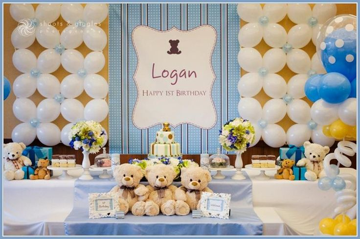 First birthday party ideas for boys first birthday party for Baby boy 1st birthday decoration ideas