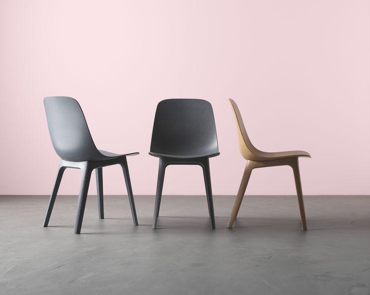 ODGER stoel | IKEAcatalogus nieuw 2018 IKEA IKEAnl IKEAnederland zitten tafel eettafel eettafelstoel eetkamer hout-kunststof-composiet kuipzitting
