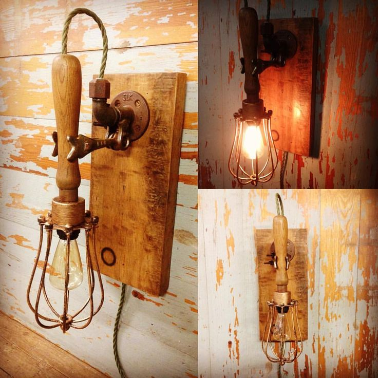 Vintage industrial style wall light. Mechanics lamp in a vintage adjustable clamp. Mounted on a naturally aged oak base. With vintage style cord and Edison bulb. This is one of my favourites. For sale. #stesupcycleworkshop #vintageindustrial #industriallighting #industrialdesign #interiordesign #loftliving #homedecor #walllight #wallsconce #mechanic