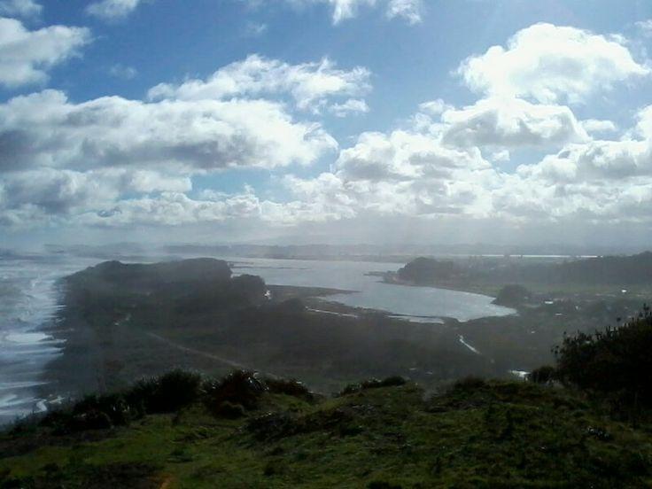 Puerto Saavedra con su neblina matutina