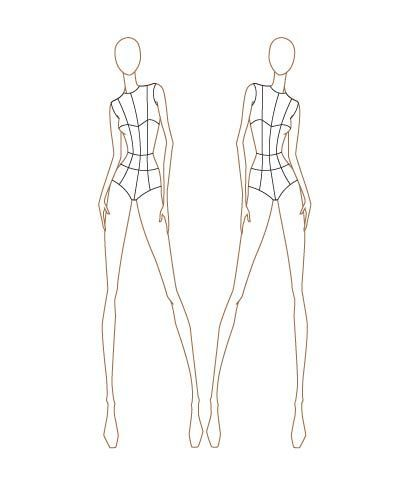 35 best Fashion Templates images on Pinterest Drawings - blank fashion design templates